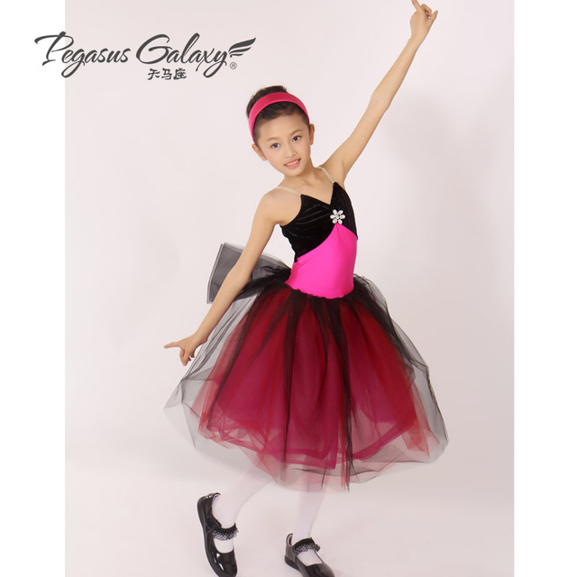 f47d6aebec02 Classical Ballet Long Tutu Skirt Ballerina Dress Girls Professional ...