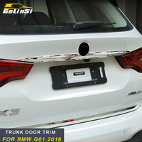 GELINSI For 2018 BMW X3 G01 Stainless Steel Mirror Surface Rear Trunk Trim lid Cover Tailgate Door Tail Gate Cover