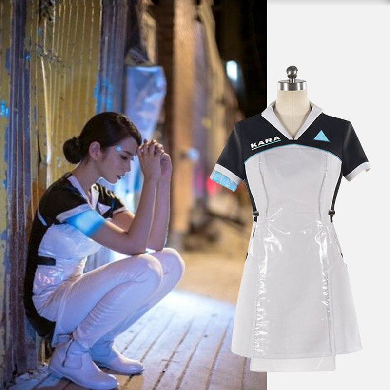 Detroit: Become Human Kara Cosplay Costume Code AX400 Agent Outfit Girls Fancy Dress Halloween Party Carnival Uniforms