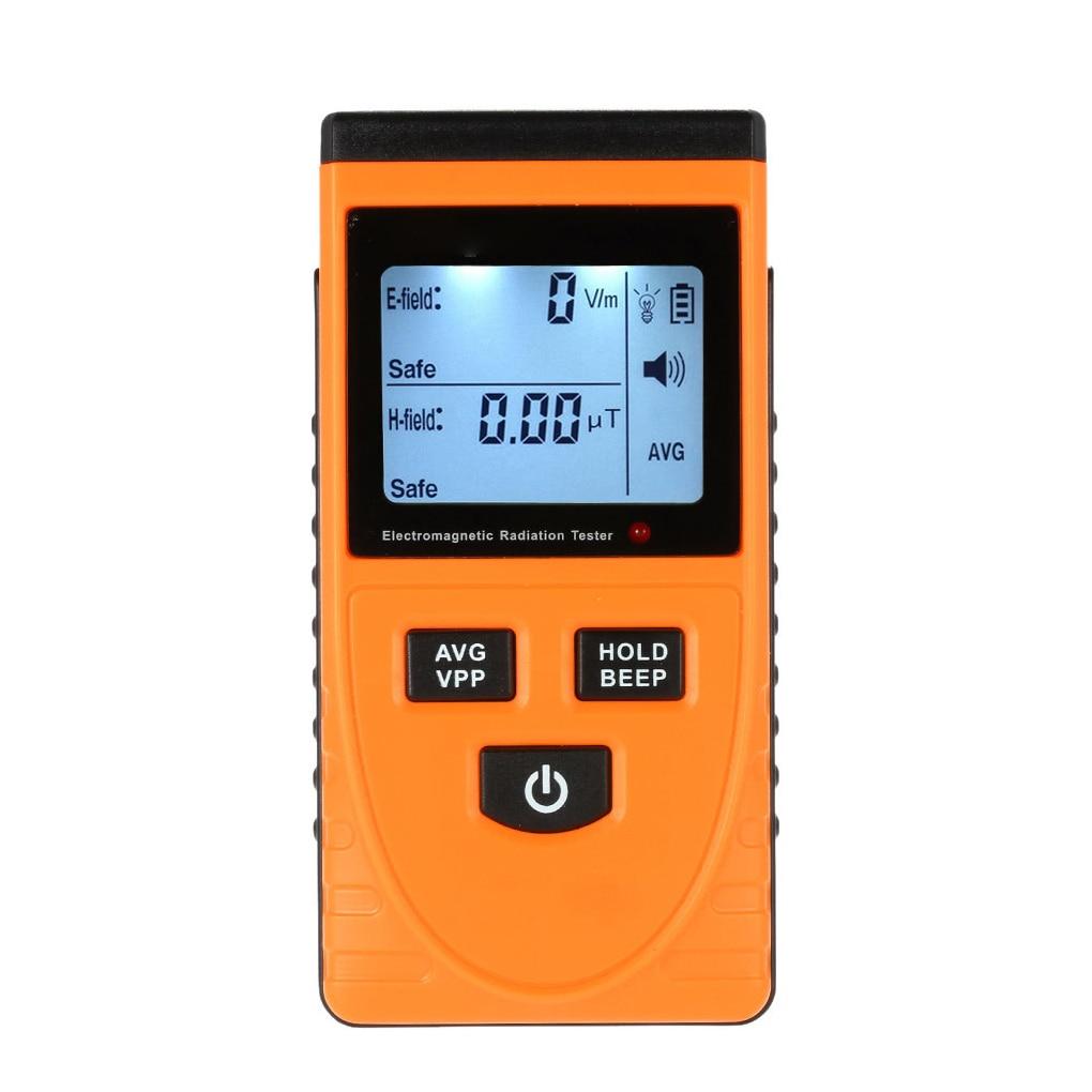 GM3120 Digital Electromagnetic Radiation Tester 2 Syncretic LCD Radiation Detector Meter Dosimeter Measurement Counter digital emf tester electromagnetic field radiation detector meter dosimeter tester counter lcd data hold and max measurement