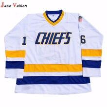 67c7d5119 Jazz Vaiten Slap Shot Jack Hanson  16 Charlestown Chiefs Ice Hockey Jersey  White For Free