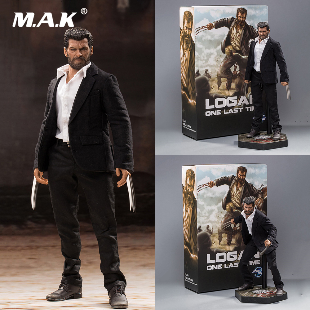 For Collection 1/6 Full Set Collectible SST003 Wolverine LOGAN Suit Version with Double Heads (Normal/Angry) Model for Fans Gift