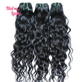 Halo Lady  7A Brazilian Natural Wave Virgin Hair Brazilian Water Wave Hair Extensions 20 22 24 inch Brazilian Virgin Hair 3 Pcs