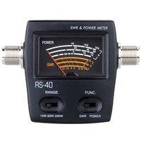 200W Tragbare SWR Standing Wave Verhältnis Watt Power Meter für HAM VHF UH einphasig elektrische Energie Meter