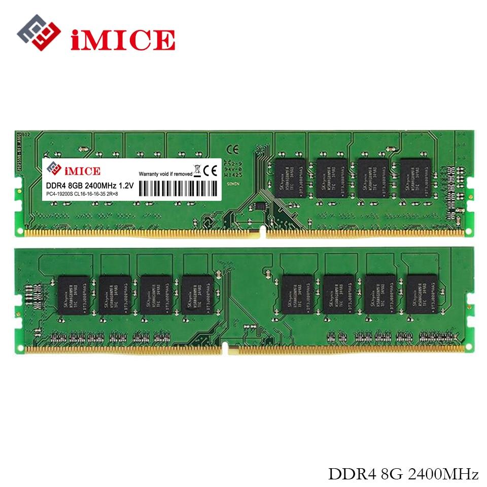 iMICE оперативной памяти ddr4 для настольных ПК объем памяти 4 ГБ 8 ГБ 2133 МГц 2400мгц CL15 ПЦ4-17000S 288-контактного DIMM для гарантии Intel придерживайтесь компьютер жизнь