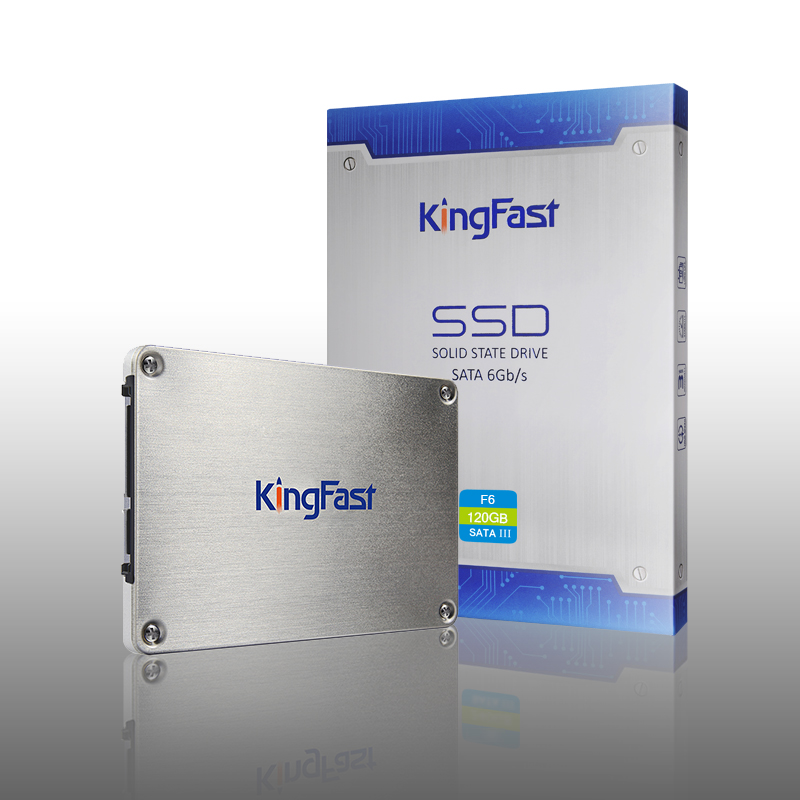 KingFast Solid 120GB State Drive 2.5 Inch SATA3 F6 120GB SSD  Internal 6Gb/s SATA III MLC metallic silver for Laptop and Desktop ssd 00aj370 800 gb sata 2 5inch mlc hs internal solid state drive 1 year warranty