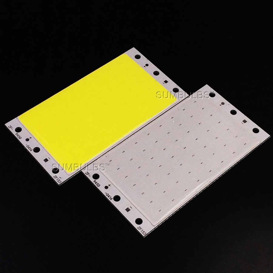 94x50 мм 15 Вт COB светодиодный ленточный светильник лампа модуль DC 12 В 1600LM Ультраяркий Теплый Холодный белый синий cob чип на плате матрица светодиодный светильник