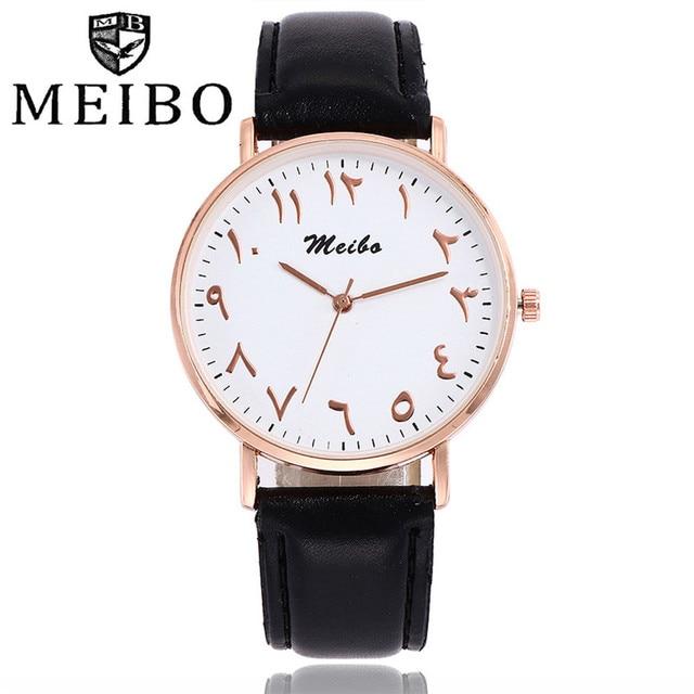 Fashion Leather Belt Watch Unique Arabic Numbers Watches Classic Quartz Noble Wr