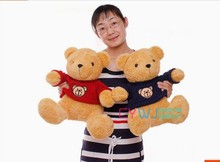 a pair of big lovely Teddy bear toys red and blue cloth bear dolls gift about 50cm