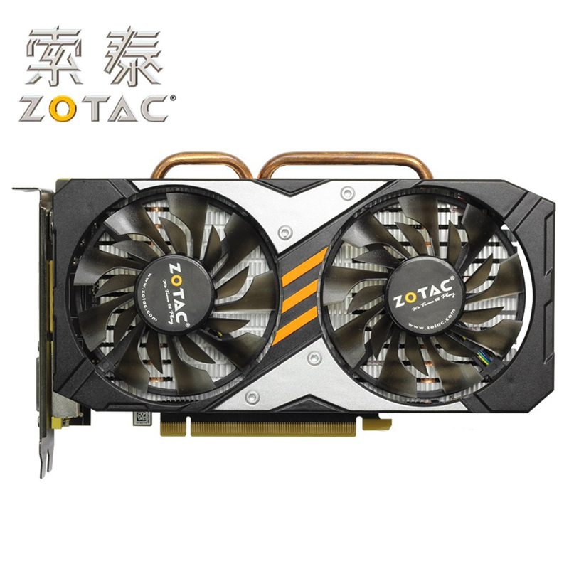 Original ZOTAC Video Card GPU GTX960-4GD5 128Bit GDDR5 GM206 PCI-E Graphics Cards For NVIDIA Map GeForce <font><b>GTX</b></font> <font><b>960</b></font> 4GB Devastators image