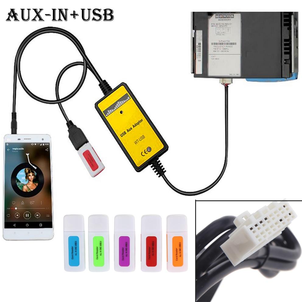 Kkmoon Adaptador auxiliar USB MP3,Adaptador MP3 Player interfaz de radio para Mazda 323//3//5//CX7//MX5//MPV//Miata