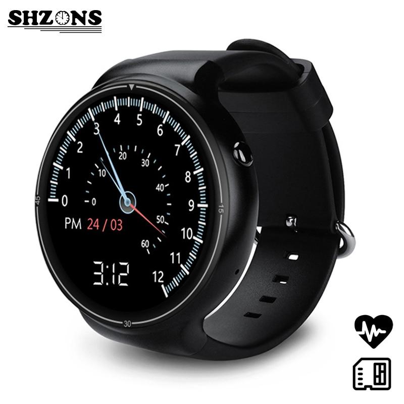 SHZONS New I4 pro Samrtwatch 2GB/16GB Quad core 400*400 Resolution SIM Card 3G Network Support Bluetooth GPS Wifi 400mAh Battery new i smartsim 2008 operator network sim card unlock attachment