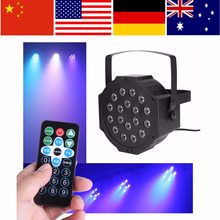 18 LED Flat Moving Head Disco Light Par Lights RGB Lamp luces discoteca for Club DJ Party Stage DMX512 Control EU/AU/US Plug(China)