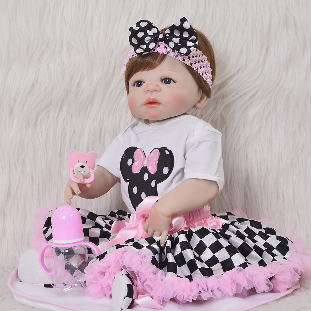 Realistic 23 Newborn Babies Full Vinyl Body Doll Toy For Girl Silicone Reborn Baby Dolls So Truly Playmates For Kids XMAS GiftRealistic 23 Newborn Babies Full Vinyl Body Doll Toy For Girl Silicone Reborn Baby Dolls So Truly Playmates For Kids XMAS Gift