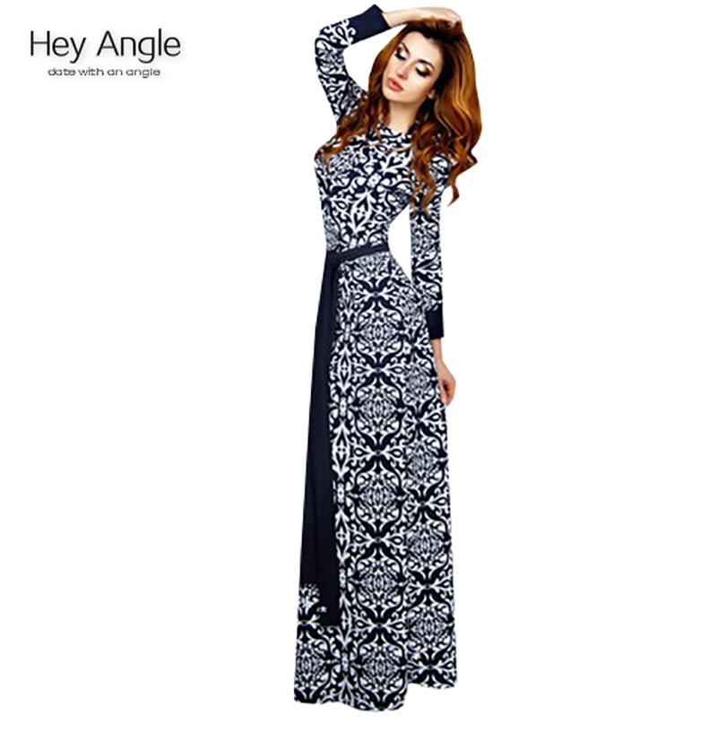 bb41f3ec0a4a autumn winter long dress 2015 new design cotton long dresses with long  sleeve fashion women lady dresses with sashes-in Dresses from Women s  Clothing on ...