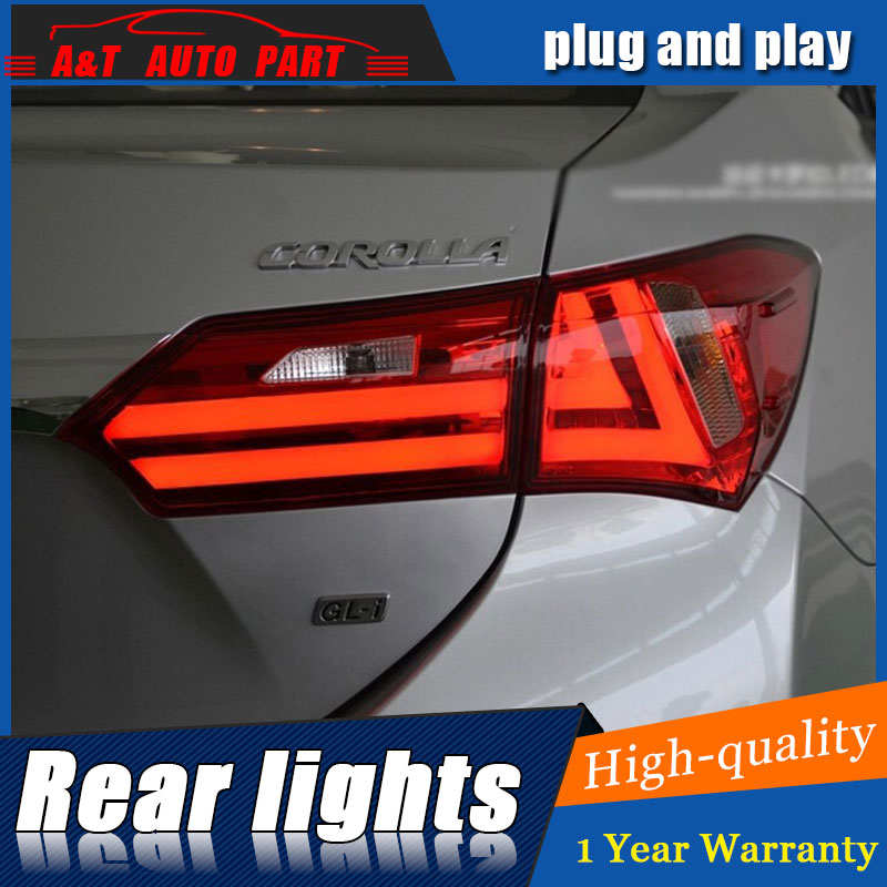 AUTO.PRO 2014-2015 For Corolla LED rear lights LED taillights car styling trunk lamp signal+brake+reverse parking light car styling tail lights case for subaru xv 2013 2016 taillights led tail lamp rear trunk lamp cover drl signal brake reverse