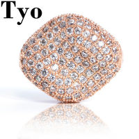 TYO Big Beads Bracelet Necklace DIY Silver Color Crystal Beads Charms Micro Pave CZ Ball Fashion