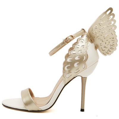 2016 Sophia Webster borboleta asas mulheres saltos altos Bowtie verão sapatos sandálias mulher cinta pontas tornozelo Toe sapatos bombas