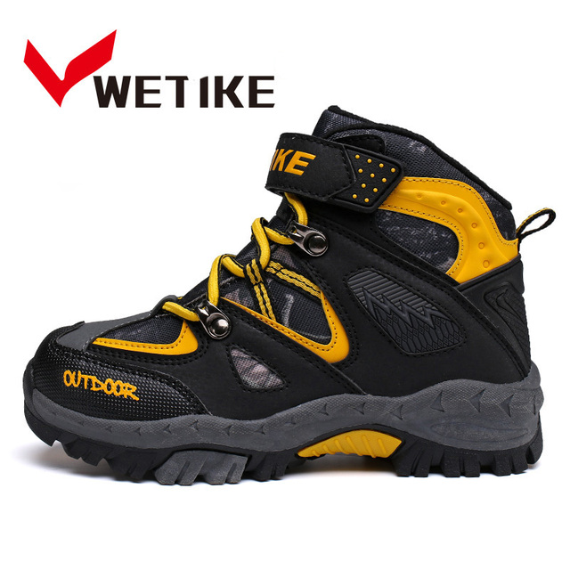 WETIKE Enfants Randonnée Chaussures Filles Garçons Hiver Chaussures Enfants  Trekking bottes Escalade Sports de Plein Air