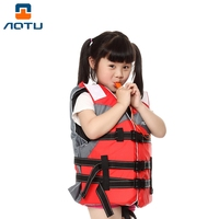 Aotu AT9036-1水泳ウォータースポーツライフベストプロテクターで調節可能なストラップ用キッズ-オレンジ
