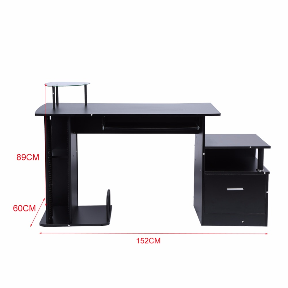 Tv Stand Computer Desk Wood Table Office Workstation Writing Pc