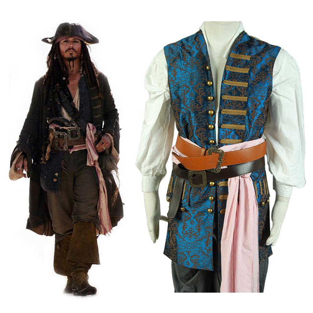 все цены на Pirates of The Caribbean 4 Jack Sparrow Cosplay Costume Jack Sparrow Vest Only