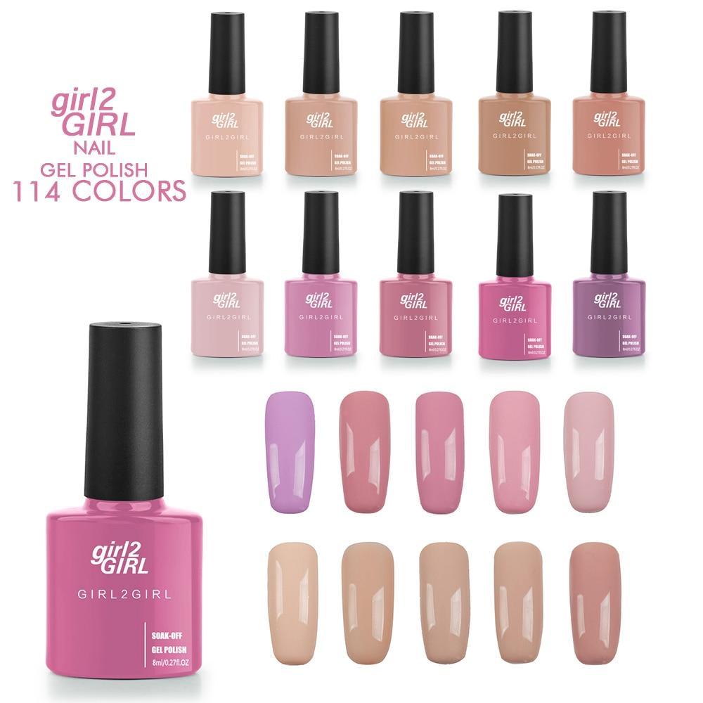 girl2GIRL Long Latest Soak Off Gel UV LED Lacquer Polish Manicure 8ml 114 Colors Super shining