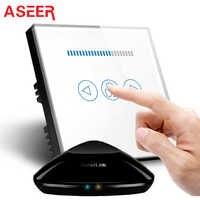 ASEER 、英国 Broadlink ワイヤレス天井ファン速度スイッチ、ライトタッチスクリーンスイッチパネルスマートホームオートメーション電話アンドロイド IOS