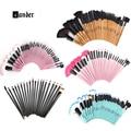 Profissional Da Beleza 5 6 11 22 24 32 Pcs Make Up ferramentas Pincel Maquiagem Superior Macio Pincel de Maquiagem Cosméticos Set Kit + saco