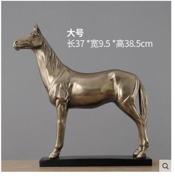 horse to successful A quick cold cast Animal Cold cast bronze horse Retro business cabinet decoration sculpture art crafts