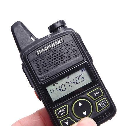 BF-T1 mini walkie talkie baofeng UHF 400-470 mhz ham radio stazione di ptt palmare FM Portatile pofung bf t1 portatile a due vie radio