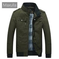 Maxulla Men's Jacket Spring Military Jacket Mens Cotton Pilot Jacket Coat Men's Bomber Jackets Air Force Cargo Flight Jaqueta
