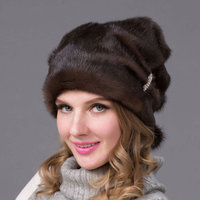 Autumn and winter real fur hat women's fur natural suede fur cap fur ball fashion high end women's hat DHY 67