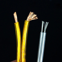 10 Meters Electrical Wires Transparent Parallel Line Two Core Flat Cable For Chandelier Lighting Table Lamp Crystal Copper