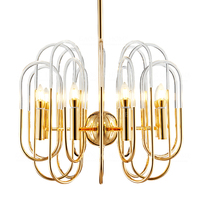 Modern LED Chandelier Lights Lamp Living Room acrylic lampshade Bjornled Chandeliers Lighting Pendant Hanging Ceiling Fixture