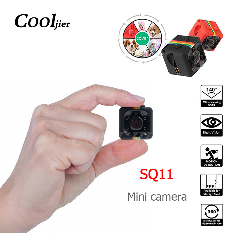 SQ11 Mini Caméra HD 1080 p Sport DV Caméra DVR de Vision Nocturne Vidéo Enregistreur Micro Caméscope petit Cam SQ 11 camera Action