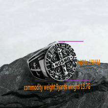 Stainless Steel Religious Ring Vintage Saint Tiat English Word Men's Ring Titanium Steel Cross Ring men s stainless steel ring rotatable ring bible verse ring bible verse cross ring