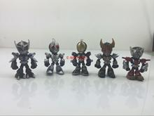 цена ORZ Free Shipping Original model Banpresto Japan Anime Masked Rider Kamen Rider Black PVC Action Figure Toys 5cm 59pcs/set онлайн в 2017 году