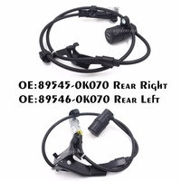 New 2PCS 89545 0K070 89546 0K070 ABS Sensor For Toyota Hilux Vigo Rear Right And Left