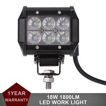 18W LED WORK LIGHT BAR Offroad 12V 24V Auto Car Motorcycle Bicycle SUV ATV UTE 4WD 4X4 Truck AWD Spot Flood Driving Fog Lamp DRL