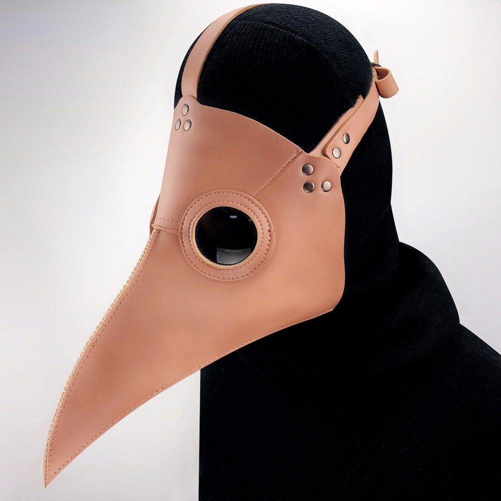 GEARDUKE Steampunk Plague Doctor Masks PU Leather Birds Beak Masks Gothic Masquerade Ball Masks Halloween Cosplay Props
