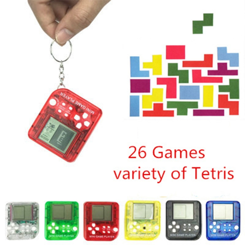 New EDC 26in1 Tetris Portable Handheld Game Console Toys Anti-stress Keychai Gift For Boys Girls-M15
