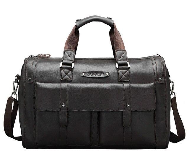 Bolsa de viaje Bolsas de Los Hombres de Cuero Genuino de Los Hombres Bolsa de Viaje de Cuero Equipaje Bolsa de Equipaje de Viaje Multifunción de Mano Para Hombre Duffle Bags Marrant
