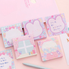 1pack /lot Kawaii Pink Girl Sweet Candy sticky notes Self-Adhesive Sticky Memo Pad N Times Notes School Stationery