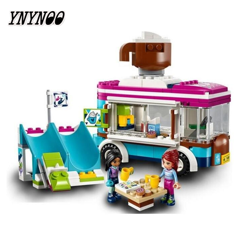 YNYNOO Bela 10729 Ski Resort Hot Chocolate Car Building Block Toys With 41319 Friends with 01048 Brick For Girl Kids ynynoo bela 10501 233pcs princess friend elves elvendale school of dragons model building kits blocks brick with 41173