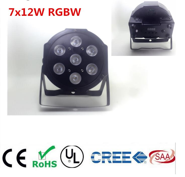 RGBWA UV rgbw 4in1 5in1 6in1 LED DJ Wash Stage Light illuminazione d'effetto verticale 7X12 W 7x18 W 7x15 W LED Flat SlimPar Quad Luce Nessun Rumore