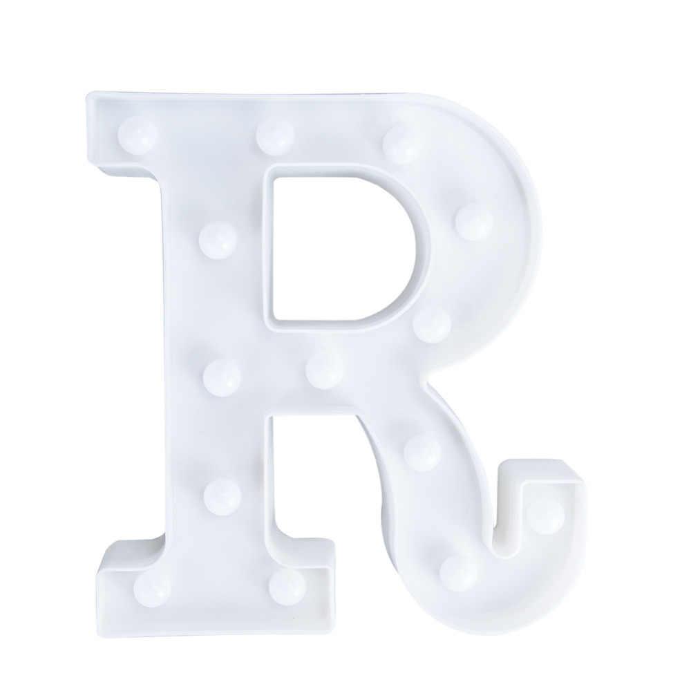26 букв светодиодный светильник Новинка освещение Marquee знак Алфавит лампа романтическая атмосфера день рождения Свадебная вечеринка спальня настенный Декор