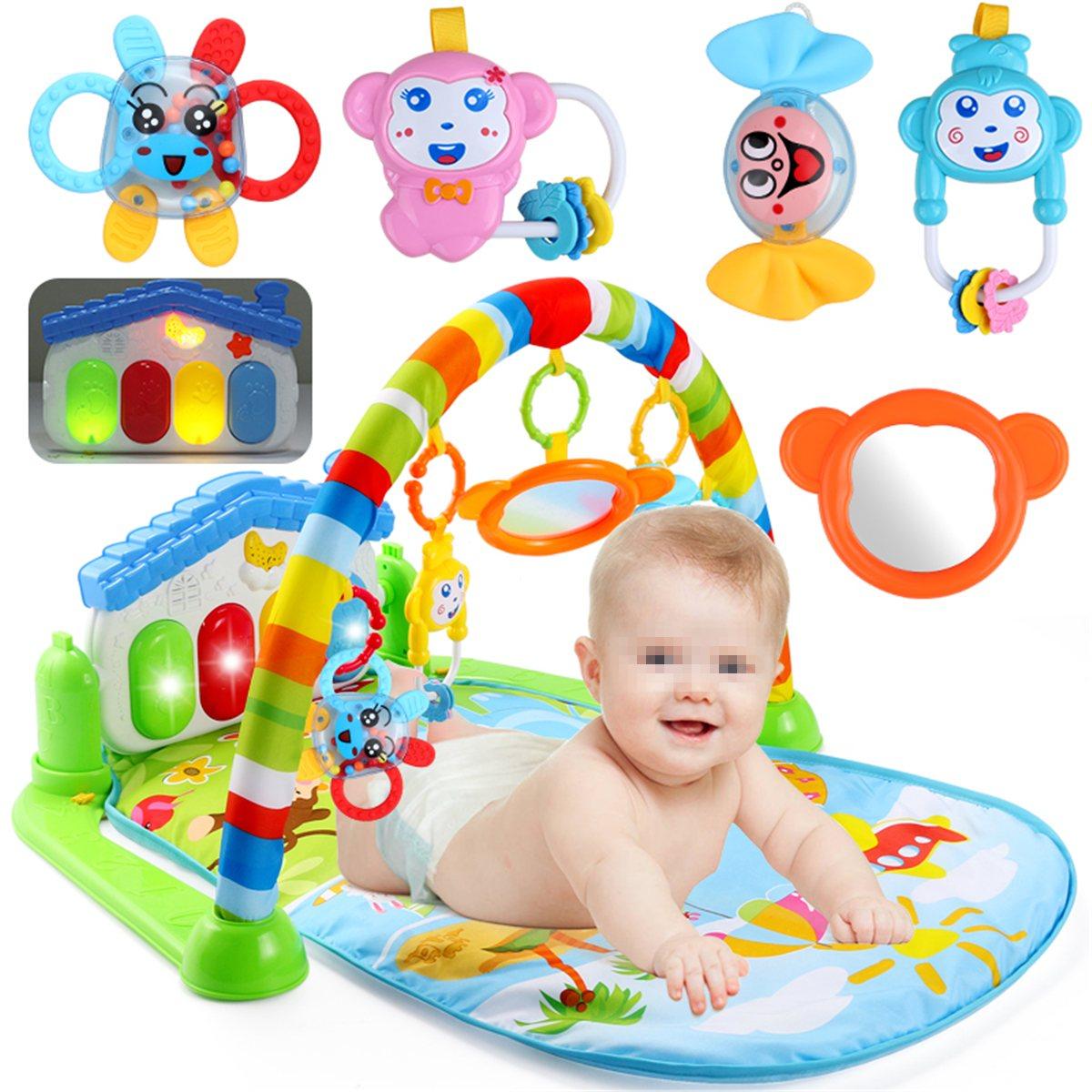 Nouveau 3 en 1 nouveau-né bébé multifonction jouer tapis musique Piano Fitness Gym jouer activité tapis pour enfants enfants cadeau jouets