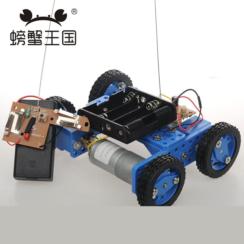 PW M21 DIY Mini Car Model with Remote Controller Gear Motor Technology Invention Funny Puzzle Education Car Toy diy toy car j473b model 7575 n20 gear motor intelligent model car diy assemble small car technology making free shipping russia