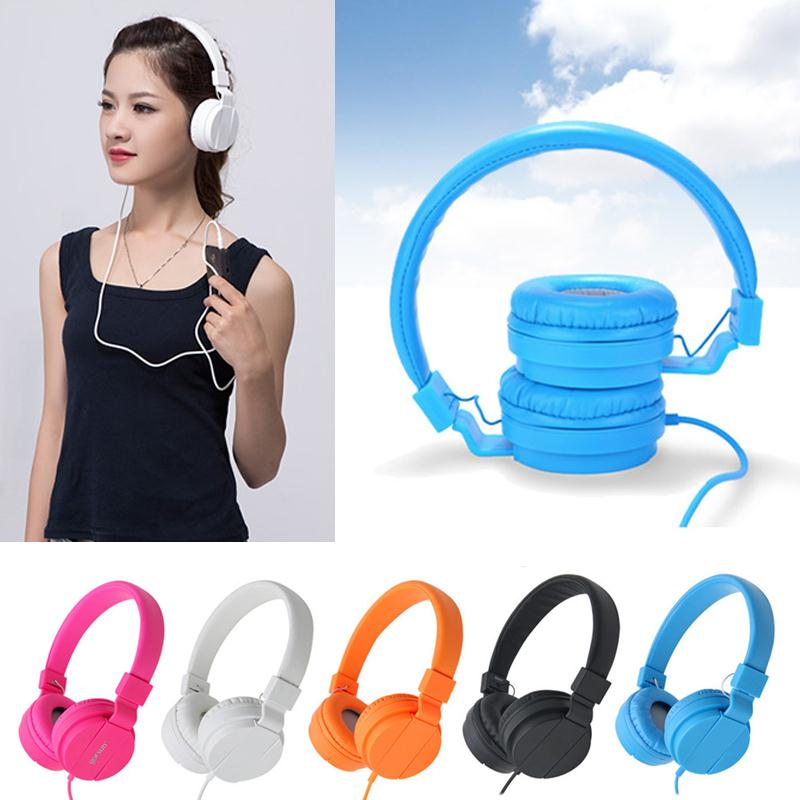 Cewaal 1.2M 3.5mm Wired Foldable Stereo Headband Over-Ear Headphone Earphone Headset For Smart Phone MP3 PC new foldable 3 5mm stereo headband headphone headset hand free call with microphone 1 5m cable for pc windows phone ios android